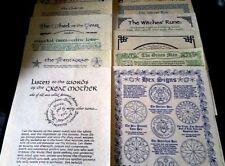 Pagan posters Set de 12 ~ 13 buts Rede Pentagramme Hex déesse sorcière roue Wicca