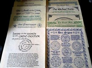 Pagan Posters Set Of 12 ~ 13 GOALS REDE PENTAGRAM HEX GODDESS WITCH WHEEL WICCA