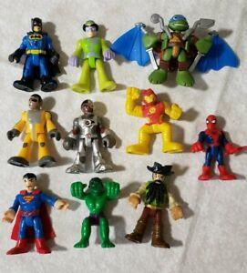 Lot of 10 pc Fisher Price Imaginext & similar figures superheros pirate