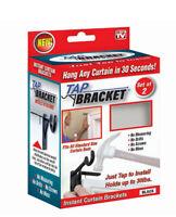 TAP BRACKET  As Seen On TV  Black  Steel  Curtain  Bracket  30 lb.