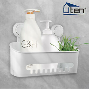 Bathroom Storage Basket Plastic Wall-Mounted Removable Kitchen Waterproof Home