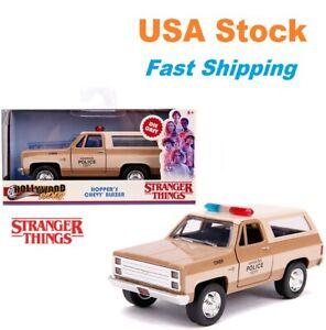 Stranger Things Hopper's 1980 Chevrolet, Blazer Hawkins Police Jada 5'', 1:32
