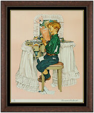 Norman Rockwell Color Lithograph HAND SIGNED Saturday Evening Post Illustration