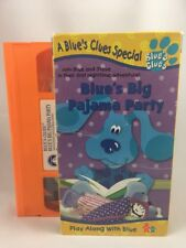 "1999 Blues Clues ""BLUE'S BIG PAJAMA PARTY"" VHS Nick Jr. Used Kids Show Tape"