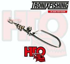 HTO Tronix Quick Change Lure Clip Snap 8pcs Strong Predator Lure Fishing Perch