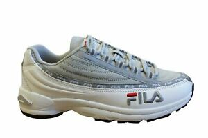Fila DSTR97 S Mens Trainers White Grey Suede Leather Lace Up Shoes 1010712 01Z