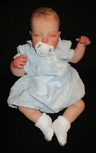 reborn doll with painted hair 18 inches Luca