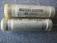 WESTERN ELECTRIC  0.02 uf 600VDC Low ESR  PAPER IN OIL CAPACITOR  #1