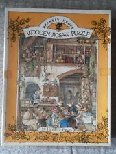 Brambly Hedge Wooden Jigsaw Puzzle Michael Stanfield Vintage Rare 1982