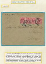 155. Perforated insignia Foreign mail