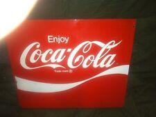 COCA COLA advertising sign coke soda pop original Bottle Rack Metal 60s 1 sided