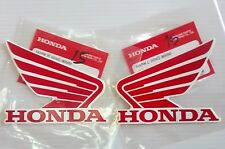 Honda Wing Fuel Tank Decal Wings Sticker 2 x 90mm RED & WHITE 100% GENUINE