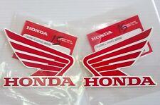 HONDA ALA Tanque de combustible Pegatina Alas 2x 90mm rojo y Blanco 100%