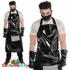 Adults Halloween Horror Psycho Butcher Serial Killer Fancy Dress Costume Kit