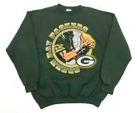 Vintage Logo 7 NFL Green Bay Packers Sweatshirt Green L USA