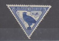 Iceland 1930 10 Aur Gyrfalcon Airmail Triangle SG173 MNH JK1855