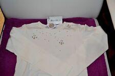 TEE shirt neuf tartine et chocolat 4 ans avec cristaux perles nacre 60 euros nou