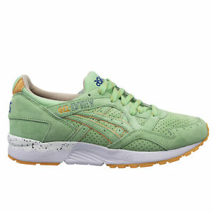 Asics Gel-Lyte V Mint Nubuck Leather Low Lace Up Mens Trainers H62UK 7676