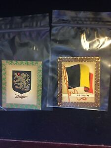 1936 AURELIA OLYMPIC FLAG CIGARETTE CARDS, 1936 BERLIN GAMES, BELGIUM