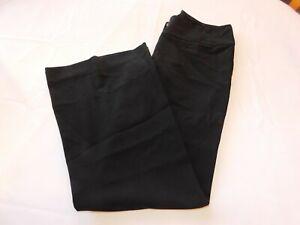 Arden B. Women's ladies Pants Slacks Size 1 Black Flat Front GUC Pre-owned