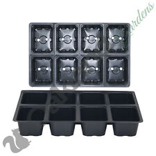 5 X 8 Cell Full Size Seed Tray Inserts Plug Trays Bedding plant Packs Plastic