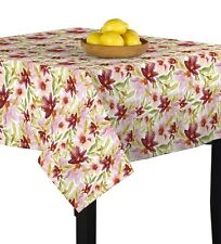 Water Color Florals Signature Square Tablecloth Assorted Sizes