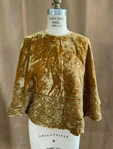 OSFM Cape Women Medieval costume Pirate renaissance gold sequin unisex adult