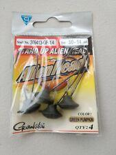 Gamakatsu 1/4 oz Alienhead Size 3/0 309413-GP-1/4 green pumpkin alien head jig