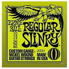 2 SETS ERNIE BALL REGULAR SLINKY GUITAR STRINGS 10's