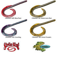 Strike King Rage Tail Anaconda Soft Plastic Ribbontail Worm Any 4 Colors RGANA7