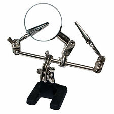 LogiLink 3. Dritte Helfende Hand mit Lupe Löthilfe Platinenhalter Löten WZ0034