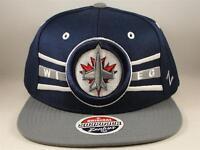 Winnipeg Jets NHL Zephyr Snapback Hat Cap Front Runner Blue Gray