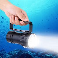 18000lm 6000K de poche LED Lampe-Torche Flashlight Étanche Lampe De Plongée