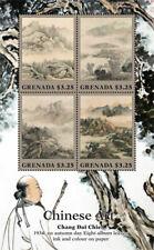 Grenada - 2015 - Qi Baishi Chinese Art - Sheet Of 4 - MNH