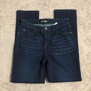Lee Women's Petite Size 8P Dark Wash Cotton Blend Mid Rise Flex Motion Jeans