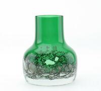 Gralglas Gral Glas Dürnau Modernist Vase grün 60/70er Mid Century mcm Luftblasen