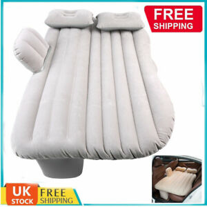 Inflatable Car Air Bed Mattress Back Seat Cushion 2 Pillow For Travel Camping