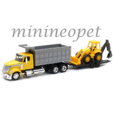NEW RAY LONG HAUL TRUCKER INTERNATIONAL LONESTAR 1/43 DUMP TRUCK w WHEEL LOADER
