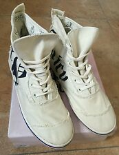 AUTH.BNIB JUICY COUTURE WOMENS MONTY HIGH TOP SHOES SZ 8 (OFF WHITE)