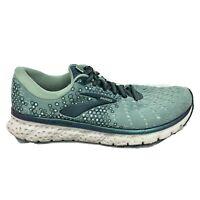 Brooks Glycerin 17 Running Shoes Womens Size 8.5 8 1/2 Green Sneaker 1202831B327