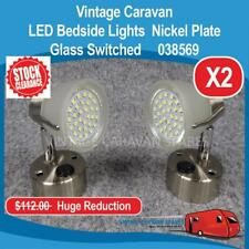 Caravan 12V METEOR LED Bedside Reading Lamp Glass (2 PACK) Nickel 038569 E0211