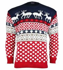 Christmas Xmas Unisex Jumper Sweater Retro Novelty Vintage Ladies Mens Size New