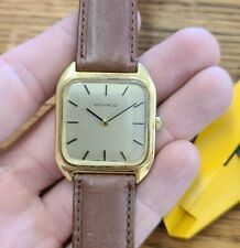 ZENITH for MOVADO Gold Tone Dress Watch Mechanical Winding Working Well 30mm