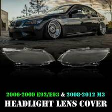 Pair Headlight Headlamp Lens Cover for BMW M3 E92 E93 Coupe 328i 335i 2006-2009