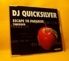 MAXI Single CD DJ Quicksilver Escape To Paradise / Timerider 5TR 1998 Trance