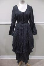 HEBBEDING Women's Black/White Button Up Dress and Pants Outfit Size 1L/1S (su1`0