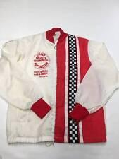 Mens VINTAGE White/Red Zip Up Coca Cola Race Jacket Sz M Vintage
