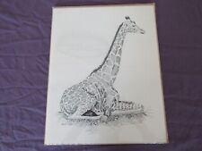 BRANDT CARTER Giraffe 1977 LIMITED EDITION LITHOGRAPH Signed