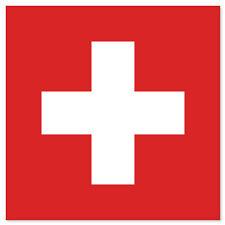"Switzerland Flag car bumper sticker decal 4"" x 4"""