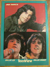 The Bay City Rollers, John Travolta, Full Page Vintage Pinup